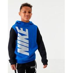Nike Boys' Sportswear Amplify Hoodie in Blue Size Large Cotton/Polyester/Fleece