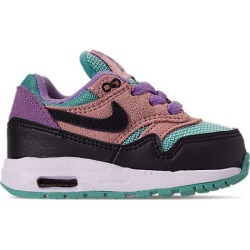 Nike Kids' Toddler Air Max 1 Casual Shoes, Pink/Black found on MODAPINS from Finish Line for USD $59.99
