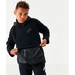 Nike Boys' Sportswear Winter Hoodie in Black Size Large 100% Polyester/Fleece