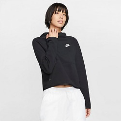 Nike Women's Sportswear Tech Fleece Hoodie in Black Size Large Cotton/Polyester/Fleece
