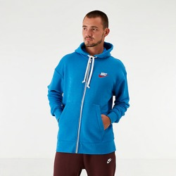 Nike Men's Sportswear Heritage Full-Zip Hoodie in Blue Size Large Cotton/Polyester