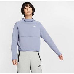 Nike Women's Sportswear Tech Fleece Hoodie in Blue Size Large Cotton/Polyester/Fleece
