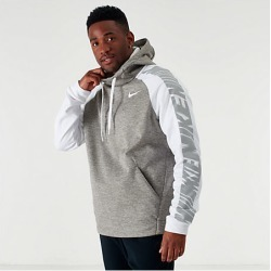 Nike Men's Therma HBR Lightweight Hoodie in Grey Size Large