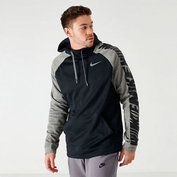 Nike Men's Therma HBR Lightweight Hoodie in Black Size Large