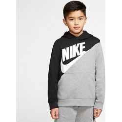 Nike Boys' Sportswear Amplify Hoodie in Black Size Large Cotton/Polyester