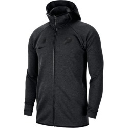 Nike Men's Dri-FIT Indiana Pacers NBA Showtime Full-Zip Hoodie in Black Size Large Cotton/Polyester