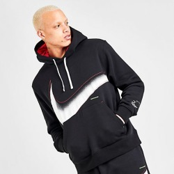 Nike Men's Sportswear Outside The Lines Hoodie in Black Size Large Fleece
