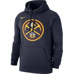 Nike NBA Club Fleece Pullover Hoodie - Denver Nuggets - College Navy, Size One Size