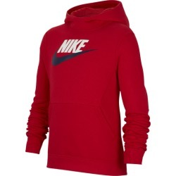 Nike Futura Club Hoodie - University Red, Size One Size