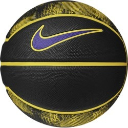 Nike LeBron Mini Basketball - Black / Amarillo / Field Purple