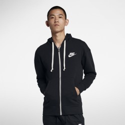 Nike Heritage Full-Zip Hoodie - Black, Size One Size