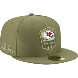 New Era NFL 59Fifty Salute to Service Cap - Kansas City Chiefs - Medium Olive, Size One Size