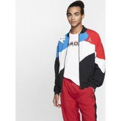 Jordan Retro 4 Light Weight Jacket - Black / Military Blue Red / White
