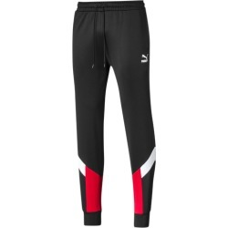 PUMA Iconic MCS Track Pants - Black / High Risk Red, Size One Size