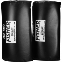 Fisher Athletic Team Curved Forearm Shield - Black / White