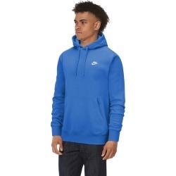 Nike Club Pullover Hoodie Sweatshirt - Light Photo Blue / White