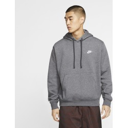 Nike Club Pullover Hoodie - Charcoal Heather / Anthracite / White, Size One Size