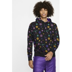 Nike Day Of The Dead Club Pullover Hoodie - Black / Court Purple, Size One Size