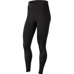 Nike Fast Be Seen Flash GX Tights - Black / Vivid Purple, Size One Size