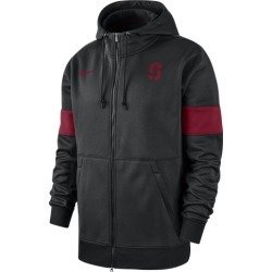 Nike College Therma Full-Zip Hoodie - Stanford Cardinal - Black, Size One Size
