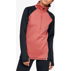 Under Armour ColdGear Armour Colorblock 1/2 Zip - Fractal Pink, Size One Size