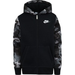 Nike Club AOP Full-Zip Hoodie - Black / White, Size One Size