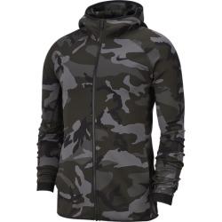 Nike Thermaflex Showtime Print Full-Zip Hoodie - Dark Grey / Black, Size One Size