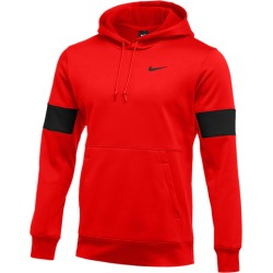 Nike Team Authentic Therma Pullover Hoodie - University Red / Black / Black, Size One Size