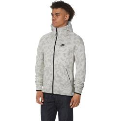 Nike Tech Fleece AOP Camo Full-Zip Hoodie - Summit White / Black, Size One Size