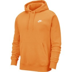 Nike Club Pullover Hoodie - Kumquat / White, Size One Size
