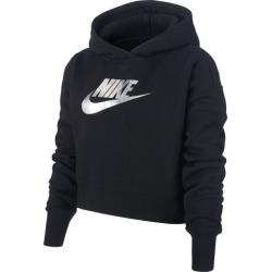 Nike NSW Crop Hoodie - Black, Size One Size