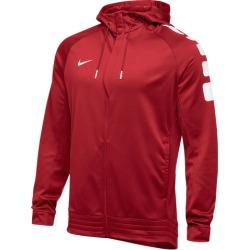Nike Team Elite Stripe Full Zip Hoodie - Scarlet / White, Size One Size