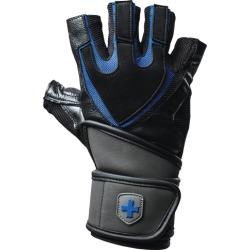 Harbinger Training Grip Wristwrap - Black / Blue, Size One Size