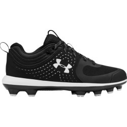 Under Armour Glyde TPU Molded Cleats Shoes - Black / White, Size One Size