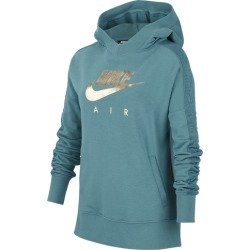 Nike Air GX Pullover Hoodie - Mineral Teal / Metallic Gold, Size One Size