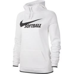 Nike Softball Therma Hoodie - White / Black / Black, Size One Size
