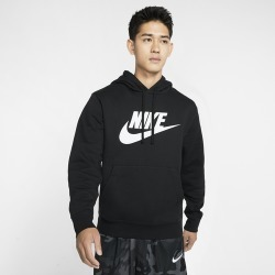 Nike GX Club Hoodie - Black / White, Size One Size