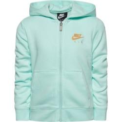 Nike NSW Air Fleece Full-Zip Hoodie - Teal Tint / Metallic Gold, Size One Size