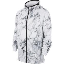 Nike Spotlight Marbled Full-Zip Hoodie - White / Black, Size One Size