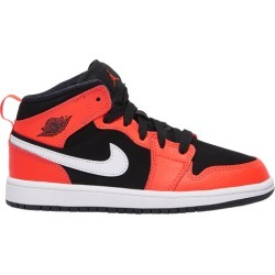 Jordan AJ 1 Mid Basketball Shoes - Black / Infrared 23 White found on MODAPINS from Eastbay Athletic SportSource for USD $59.99