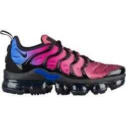 Womens Nike Air Vapormax Plus - Black/Black/Team Red/Hyper Violet/Racer Blue