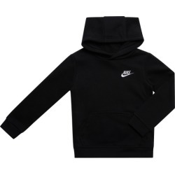 Nike Club Fleece Pullover Hoodie - Black / White, Size One Size