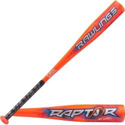 Rawlings Raptor Youth USA Baseball Bat - Orange / White, Size One Size
