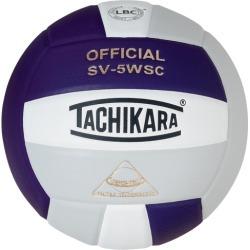 Tachikara SV-5WSC Volleyball - Purple / White / Silver Grey