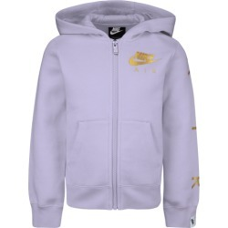 Nike NSW Air Fleece Full-Zip Hoodie - Lavender Mist / Metallic Gold, Size One Size