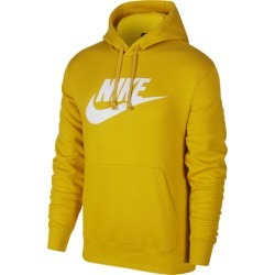 Nike GX Club Hoodie - Dark Sulfur / White, Size One Size