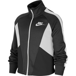 Nike NSW Heritage Full-Zip Hoodie - Black / White, Size One Size