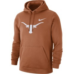 Nike College Team Club Pullover Hoodie - Desert Orange, Size One Size