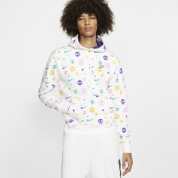 Nike Day Of The Dead Club Pullover Hoodie - White / Court Purple, Size One Size