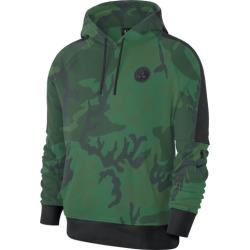 Nike NBA Courtside Pullover Hoodie - Boston Celtics - Clover / Black / Black Camo, Size One Size